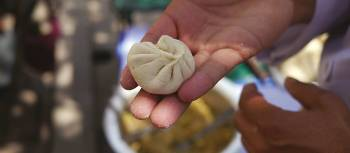 Local chef making some yummy momo's | Sally Imber